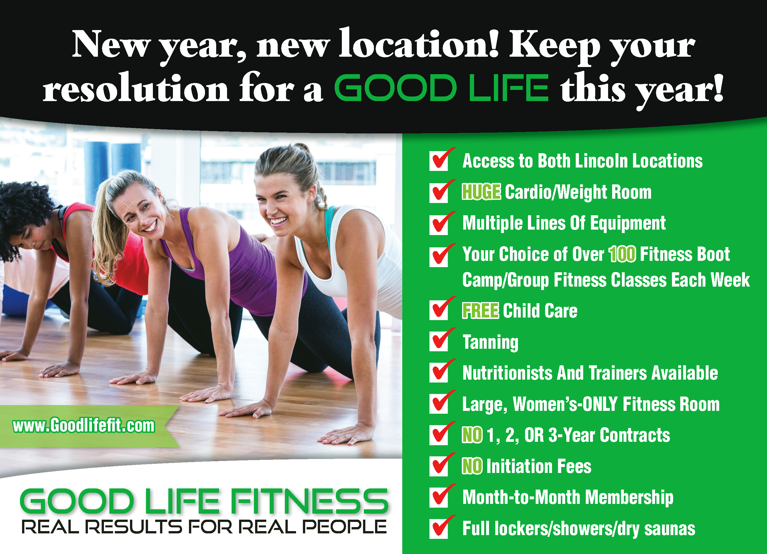Good Life Fitness Lincolns Locally Owned And Operated Premier